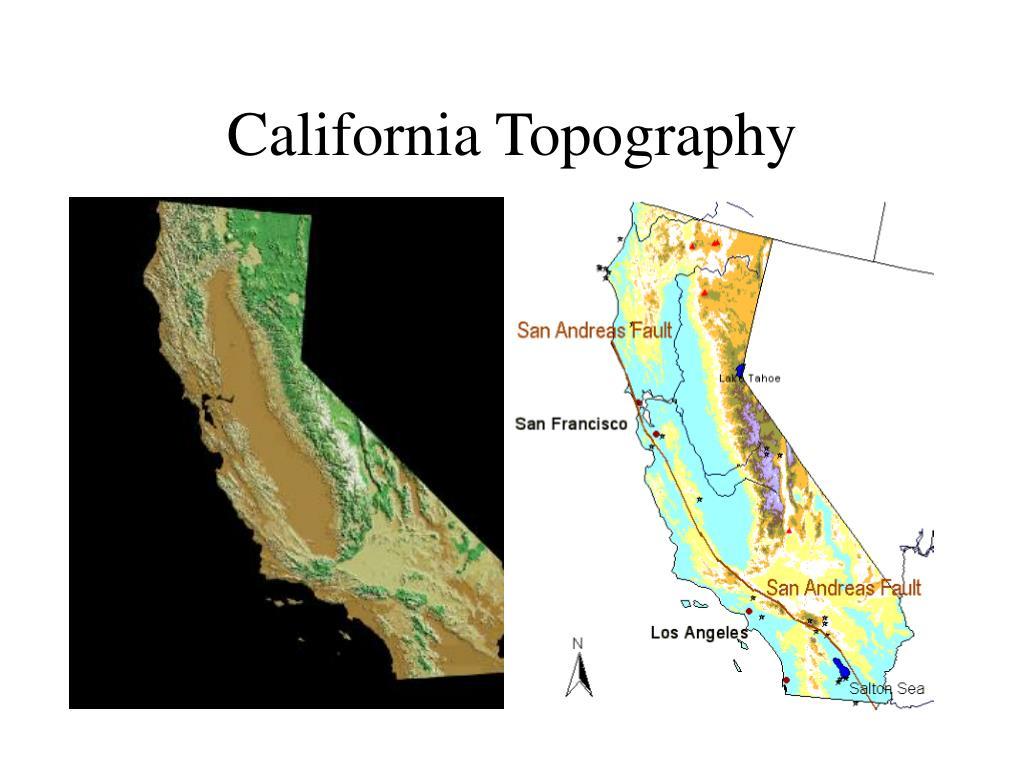 California Topography