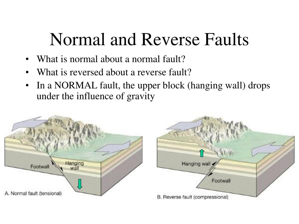 Normal and Reverse Faults