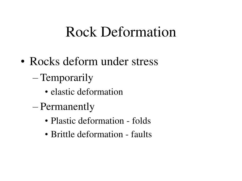Rock Deformation