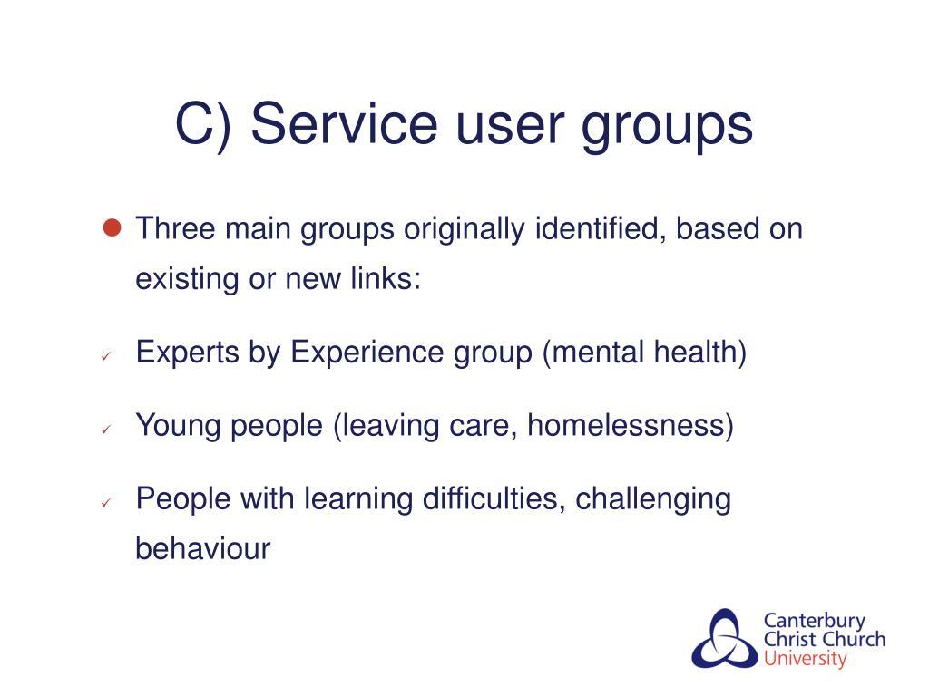 C) Service user groups