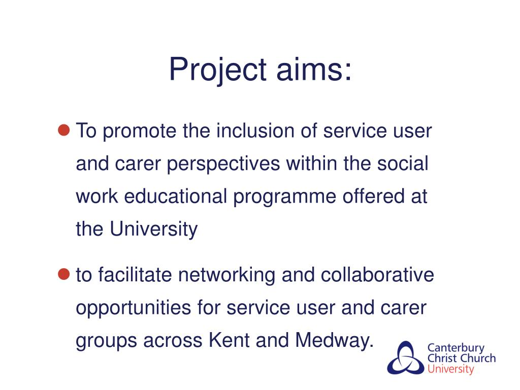 Project aims: