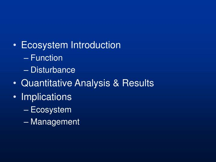 Ecosystem Introduction