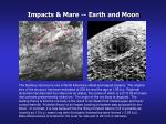 impacts mare earth and moon