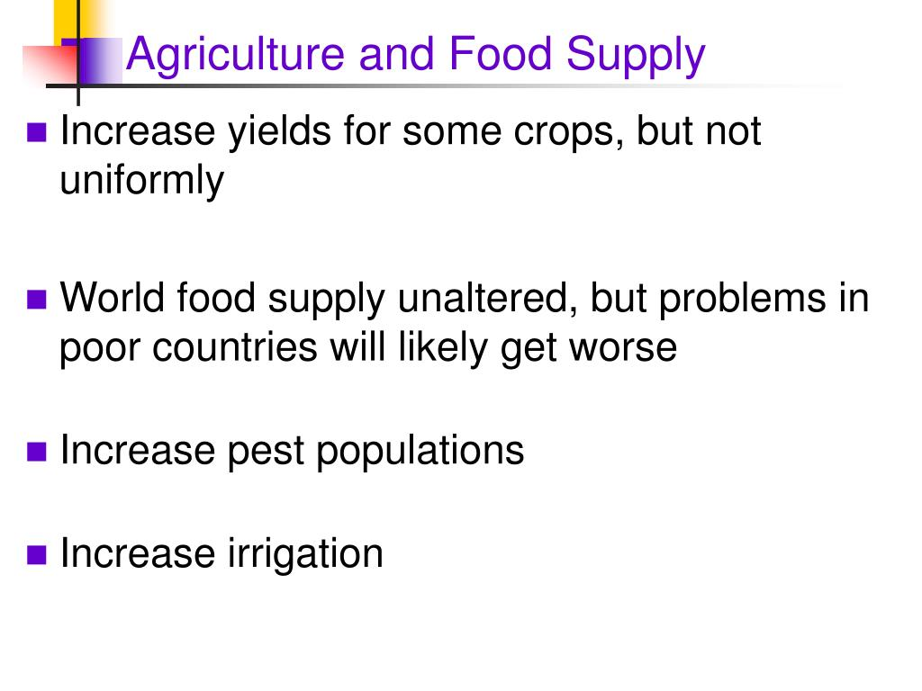 Agriculture and Food Supply