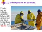 co 2 and temperature are correlated