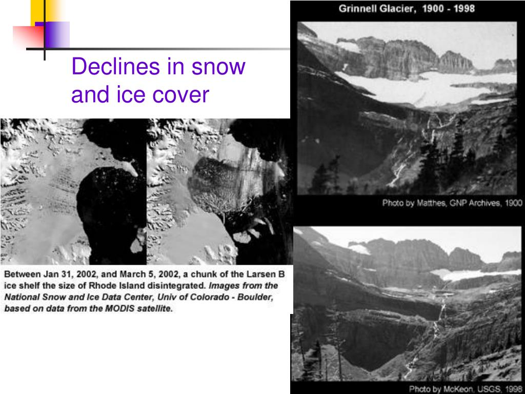 Declines in snow and ice cover