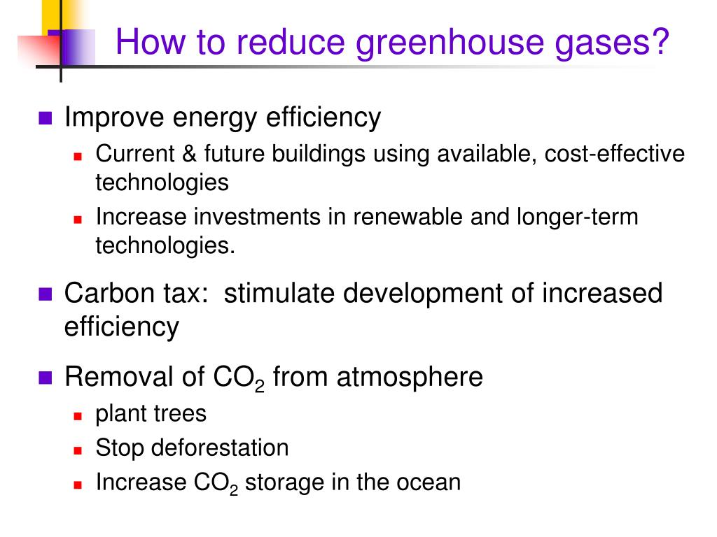 How to reduce greenhouse gases?