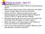 points to know april 21