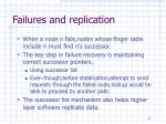 failures and replication