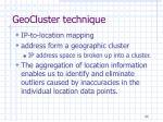 geocluster technique