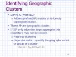 identifying geographic clusters