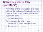 nearest neighbor in delay space nnsd