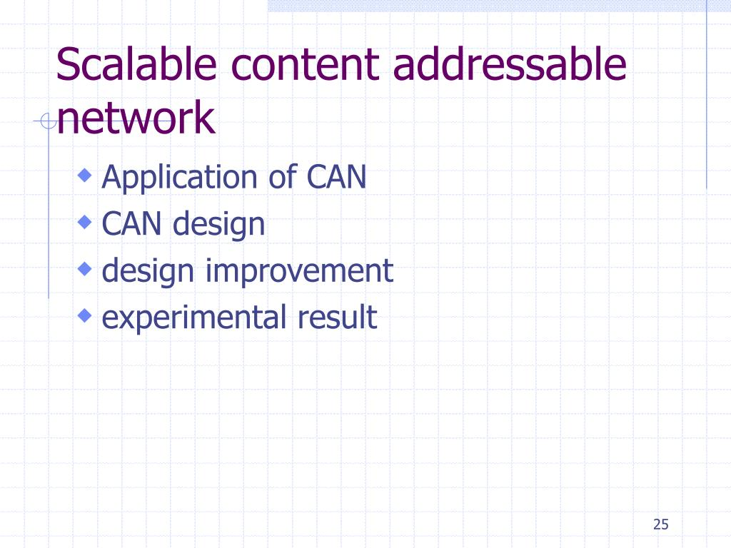Scalable content addressable network