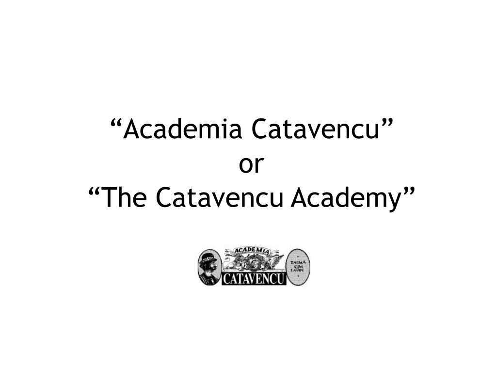 academia catavencu or the catavencu academy l.