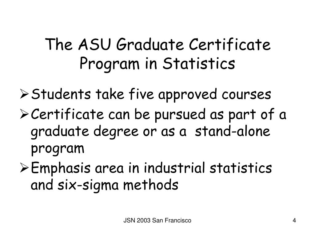 The ASU Graduate Certificate Program in Statistics
