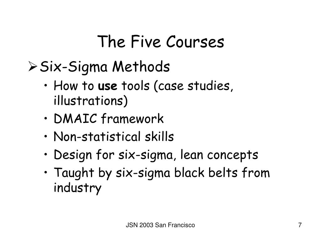 The Five Courses