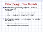 client design two threads