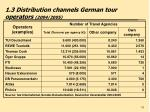 1 3 distribution channels german tour operators 2004 2005