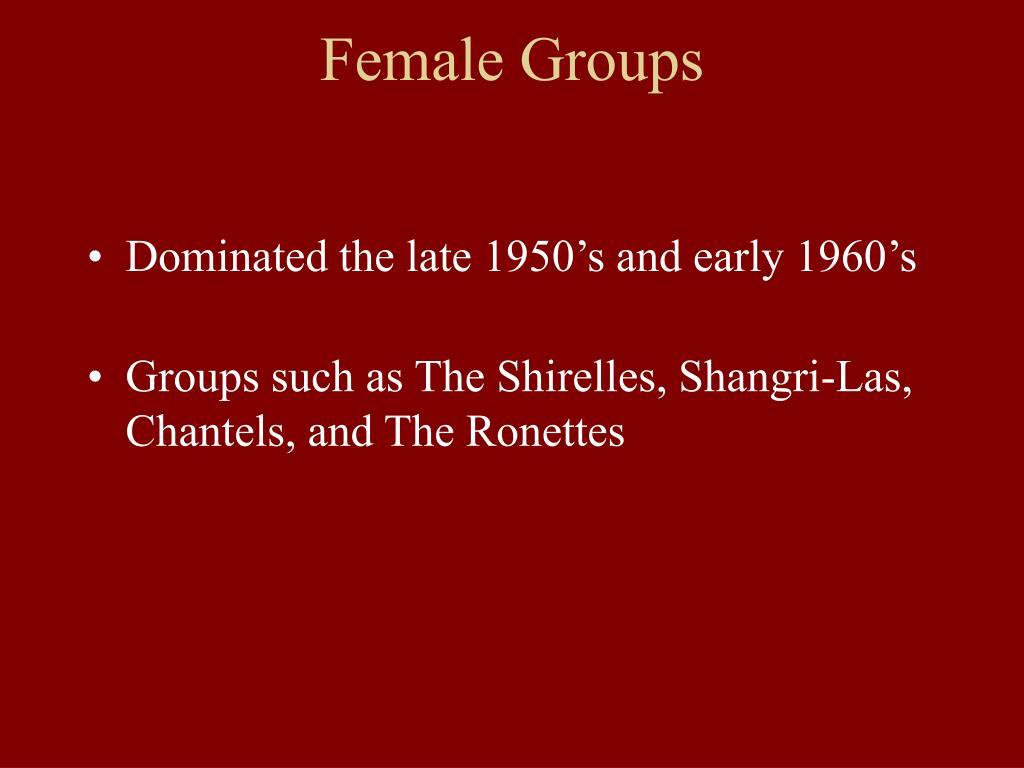 Female Groups