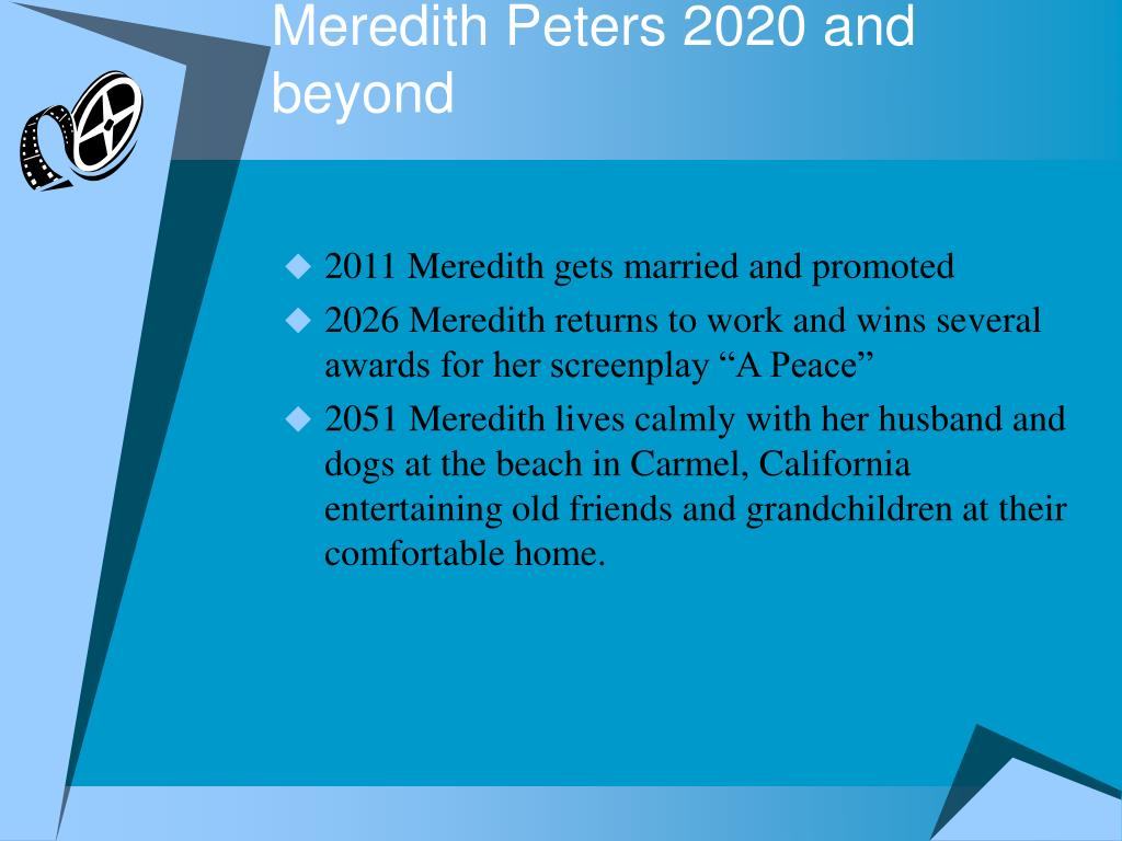 Meredith Peters 2020 and beyond