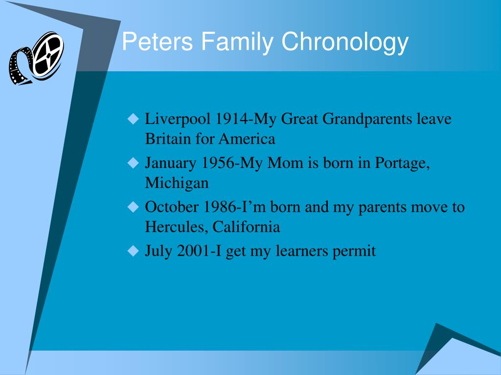 Peters Family Chronology