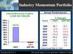 industry momentum portfolio
