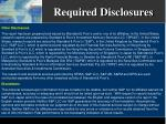 required disclosures17