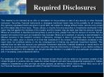 required disclosures18