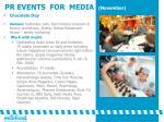 pr events for media november