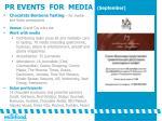 pr events for media september