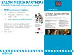 salon media partners extent of advertising informational support