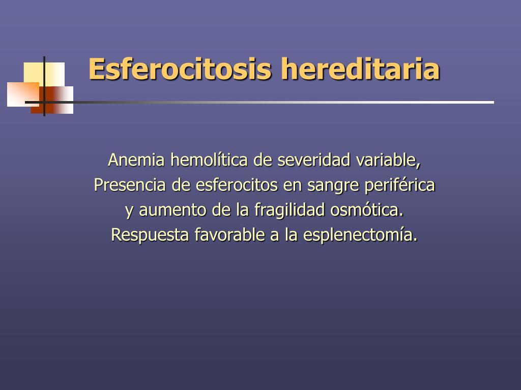 esferocitosis hereditaria complicaciones de diabetes