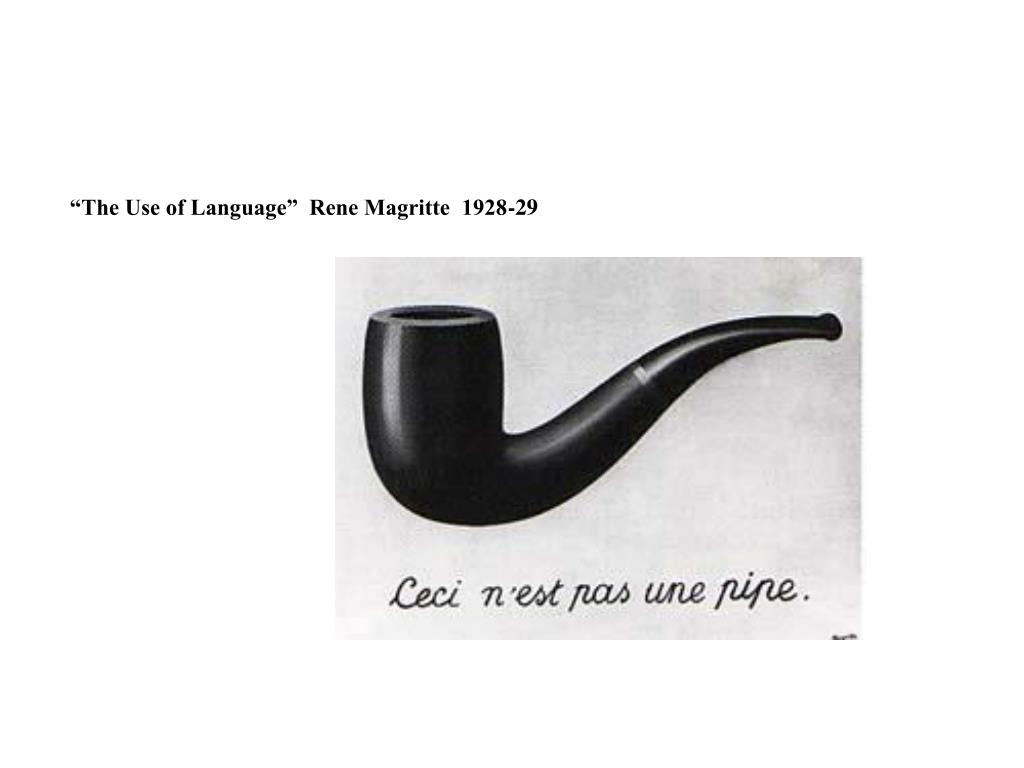 """""""The Use of Language""""  Rene Magritte  1928-29"""