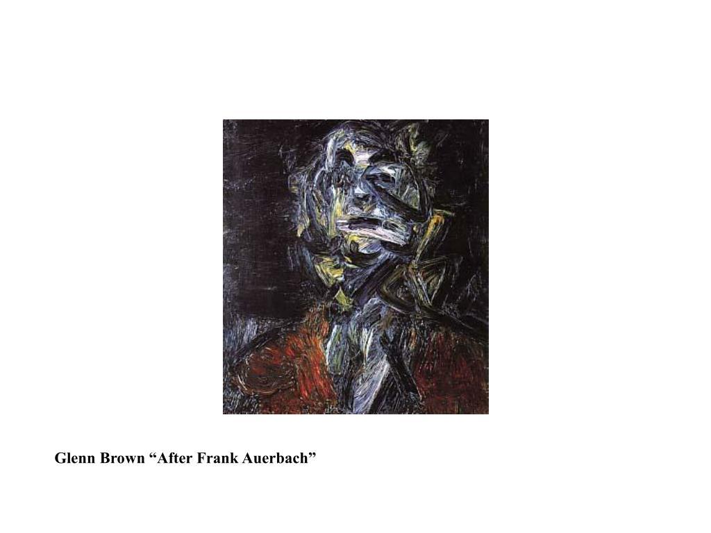 """Glenn Brown """"After Frank Auerbach"""""""