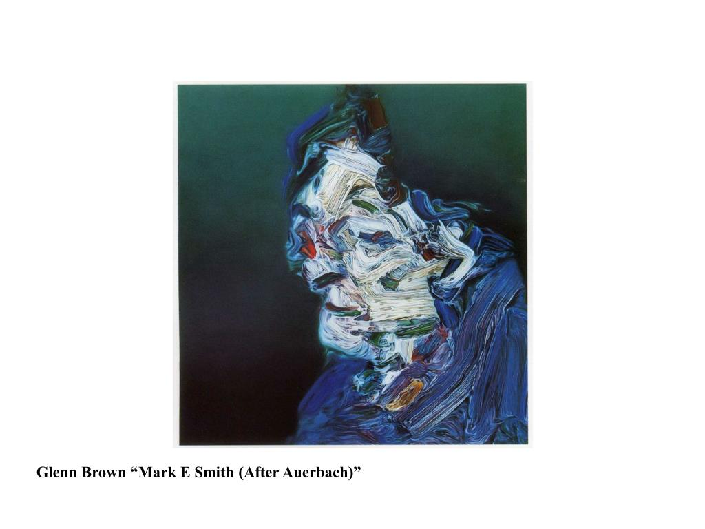 "Glenn Brown ""Mark E Smith (After Auerbach)"""