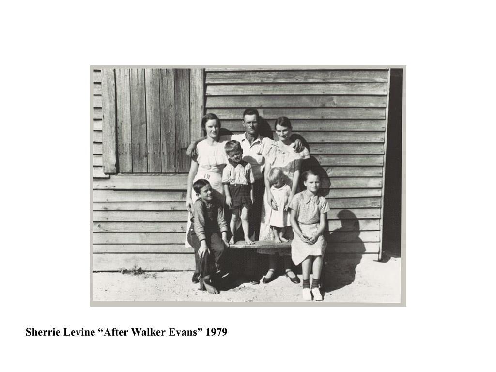 """Sherrie Levine """"After Walker Evans"""" 1979"""