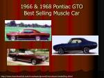 1966 1968 pontiac gto best selling muscle car