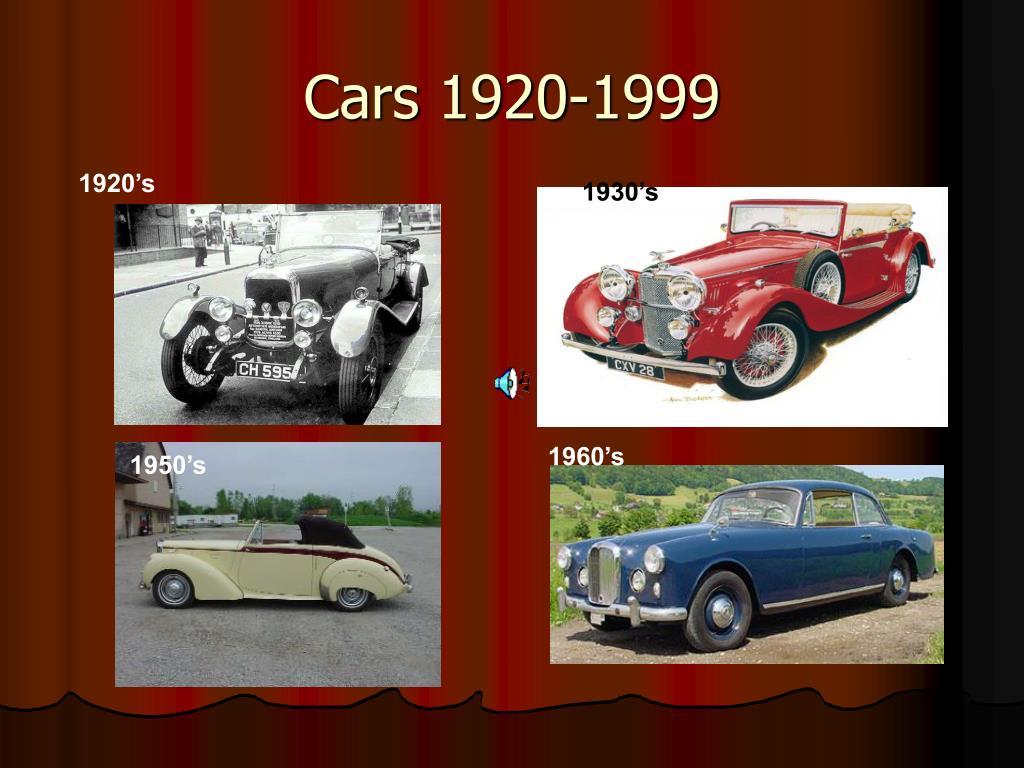 cars 1920 1999 l.