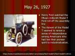 may 26 1927