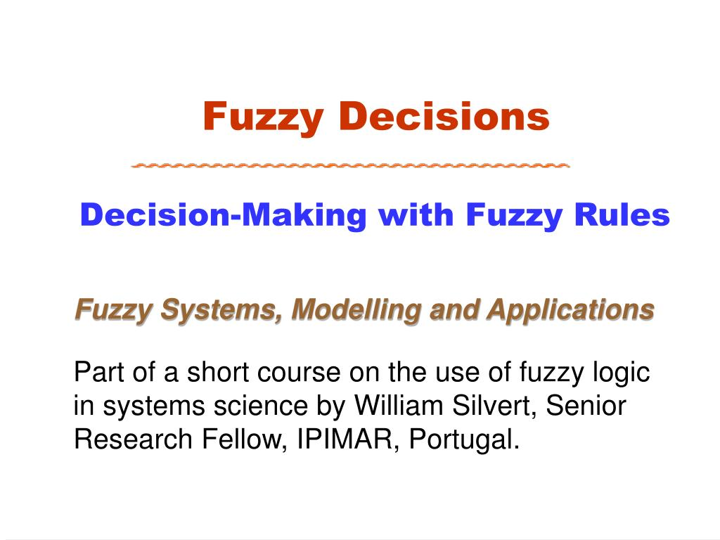 fuzzy decisions