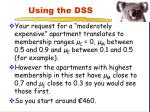 using the dss