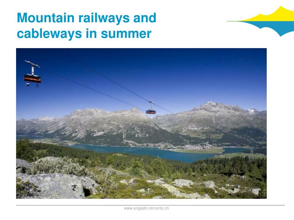Mountain railways and