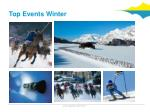 top events winter