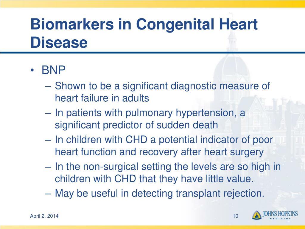 Biomarkers in Congenital Heart Disease