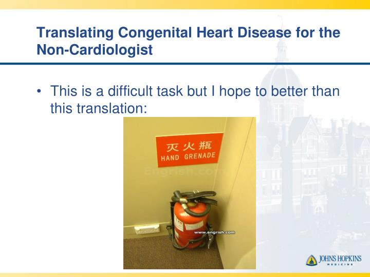 Translating congenital heart disease for the non cardiologist