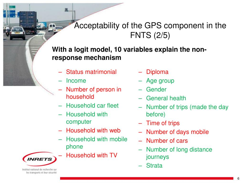 Acceptability of the GPS component in the FNTS (2/5)