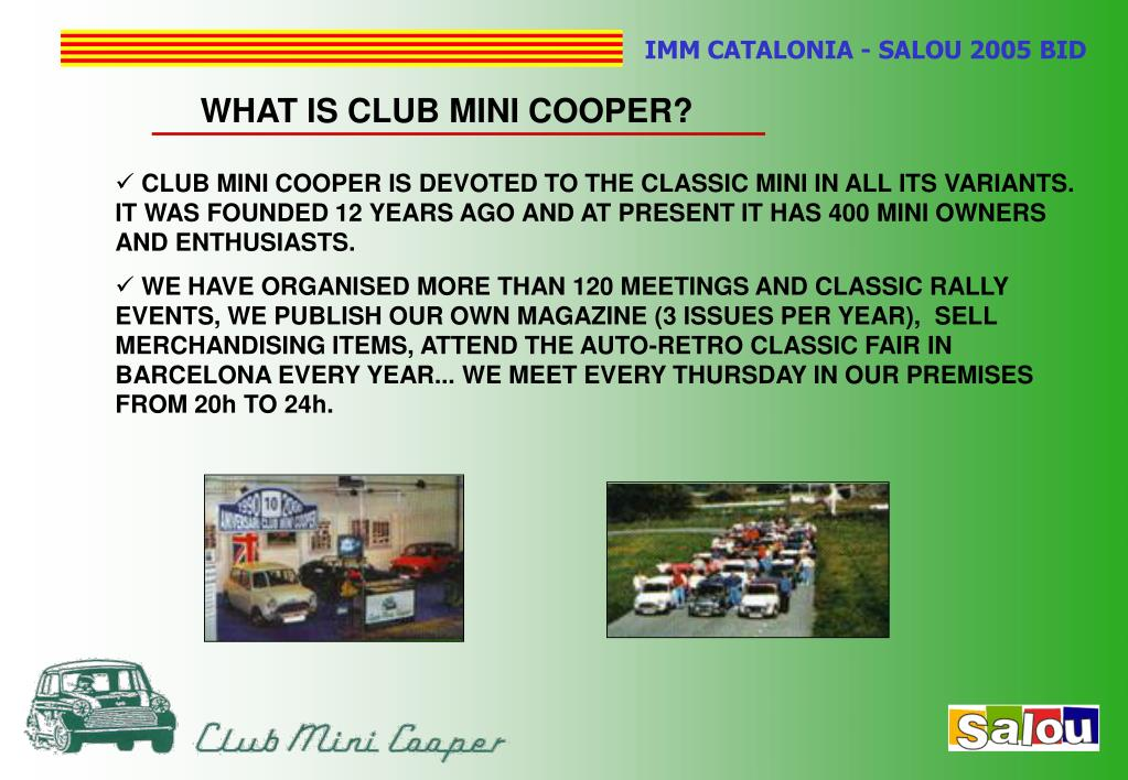 WHAT IS CLUB MINI COOPER?