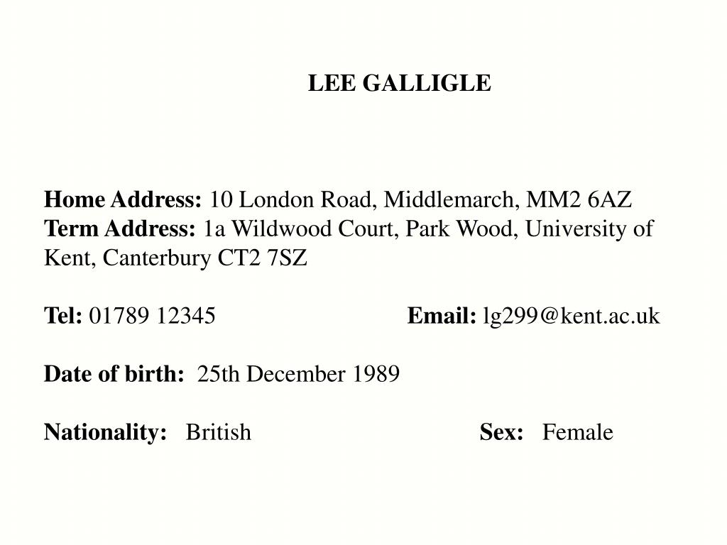 LEE GALLIGLE