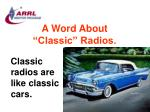 a word about classic radios80
