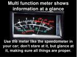 multi function meter shows information at a glance